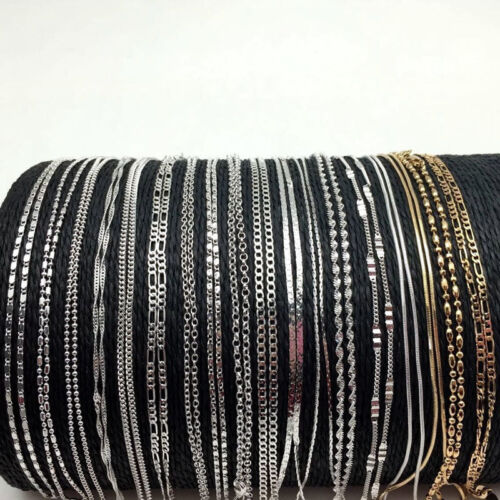 Lots 925Sliver Filled Gold Rolo Curb Snake Figaro Wave Chain Necklace Jewelry 5