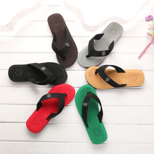 Summer Leisure Men's Flip Flops Beach Slippers Shoes Cosy Massage Thong Sandals 3