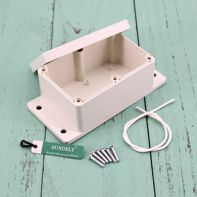 Waterproof ABS Plastic Electronics Project Box Enclosure Case Cover Screw New 6