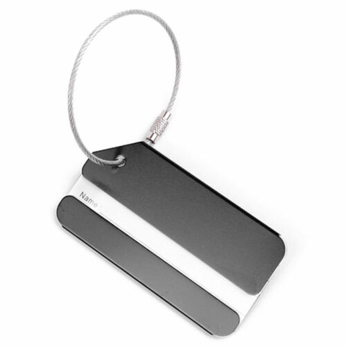 New 1PC Aluminium Luggage Tag Suitcase Label Name Address ID Bag Baggage Tag Hot 5