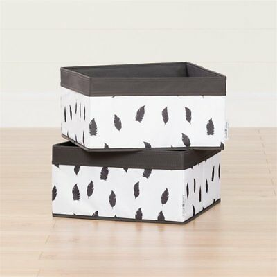 South Shore Storit Polyester Basket in White and Gray (Set of 2) 2