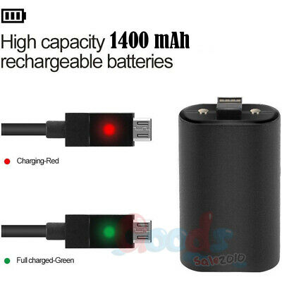 2Pcs Branded Rechargeable Battery Pack For Xbox One Wireless Controller 1400mAh 2