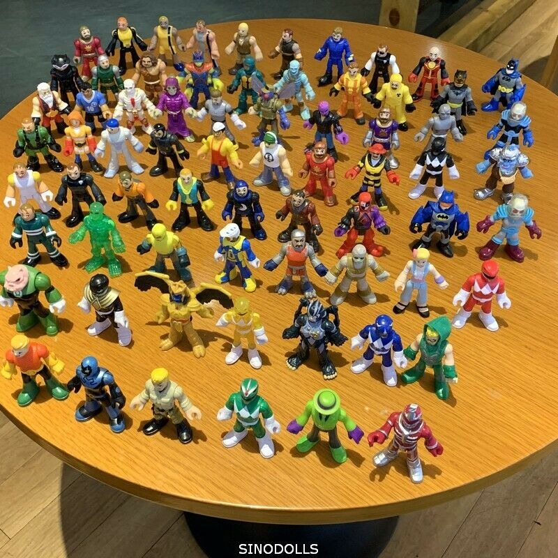 Random 7Pcs Imaginext Power Rangers DC Comics Collection Action Heroes toy gift