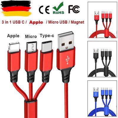 Universal 3 in1 USB Multi Fast Ladekabel Kabel Für Samsung Galaxy S8 S9 S8 S9+ 2