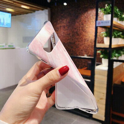 For Samsung Galaxy S10+ S10e S9 S8 Matte Marble Pattern Soft Silicone Case Cover 10
