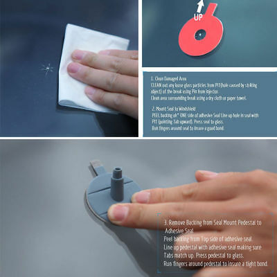 Car Windshield Windscreen Glass Scratch Chip Crack SET Car Repair Tool DIY Kit 6