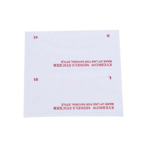 Thrush card Grooming Brow Stencils Eyebrow Template Stickers 24 pcs 1 Set LI 7