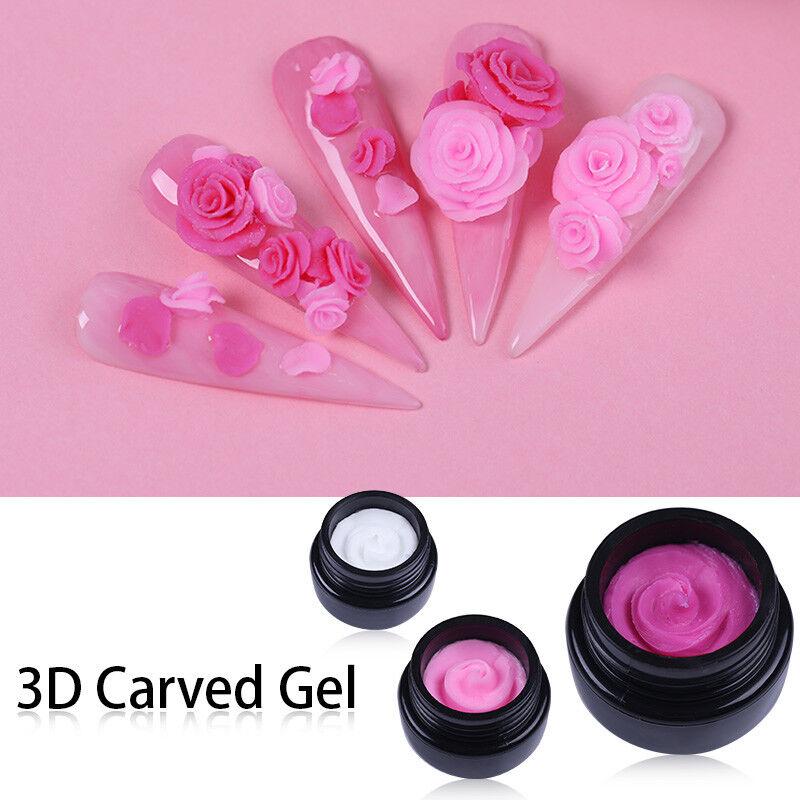 Nail Art Carving Painting Gel 3D Carved Gel Soak Off UV Gel Flower DIY 5ml 10