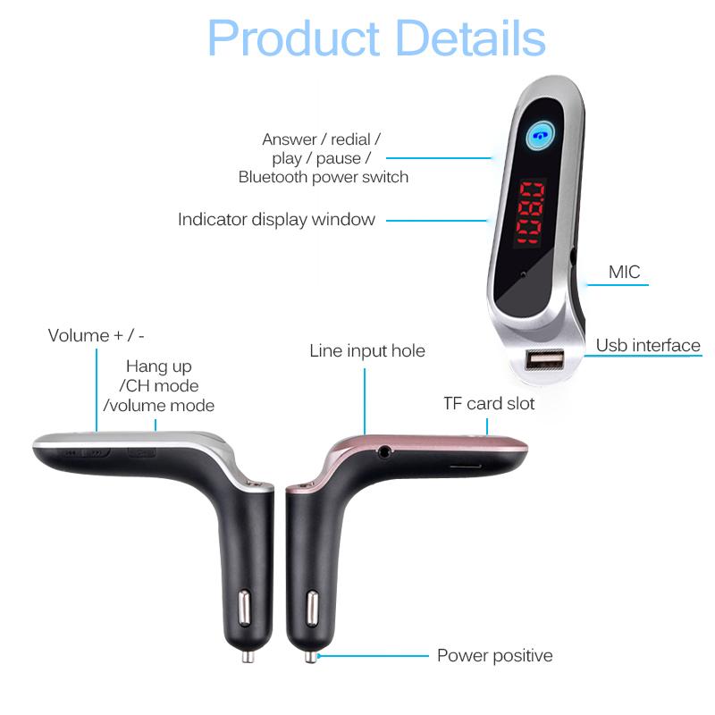 Wireless Bluetooth FM Transmitter AUX Modulator USB Charger Car Kit Handsfree IE