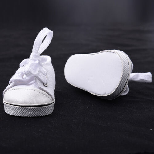 Handmade Canvas White Shoes for 18inch American Girl Doll Cute Baby Kids Toys 11