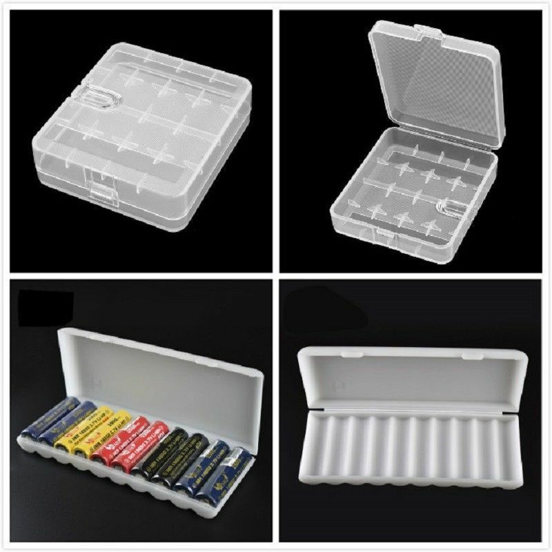 Portable Plastic Battery Case Cover Holder Storage Box For 18650 Batteries New 2