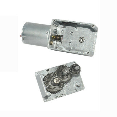 DC6V 12V 24V 0.6-200RPM Micro Worm Gear Reducer Motor with Metal Gearbox 32GZ370 2