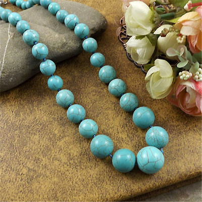 20 style Vintage Women's Tibetan Silver Turquoise Beads String Pendant Necklace 11