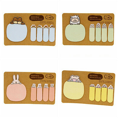 Animal Bunny Rabbit Pig Bear Sheep Sticky Note Index Flag Sticker Memo Post