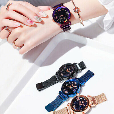 Luxury Starry Sky Watch Magnet Straps Fashion Watches Magnetic Stainless Steel 5