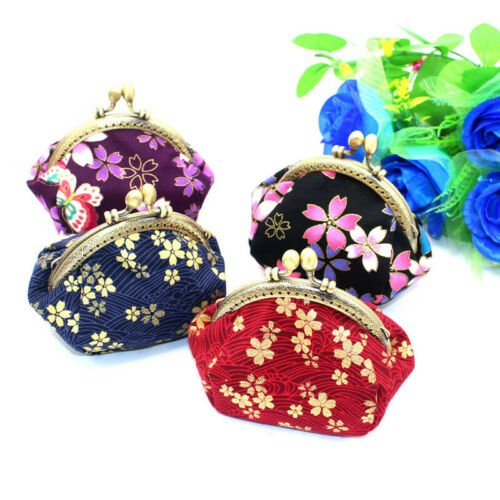 Collectable Handmade Japanese Style Fans Clasp Coin Purse Bag Change Wallets G 3
