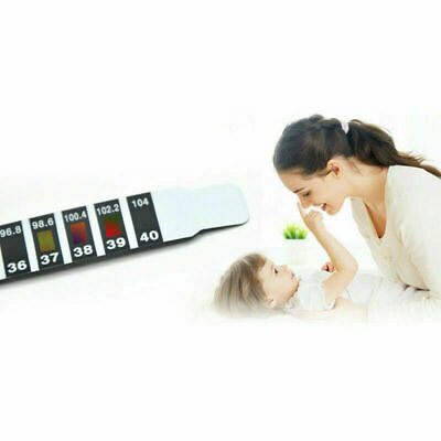 10Pcs FOREHEAD THERMOMETER FEVER SCAN STRIP, BABY, CHILD ADULT CHECK TEMPERATURE 5