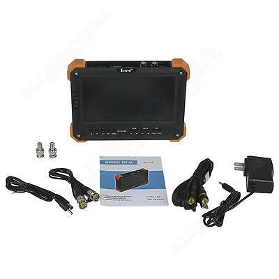 "7 ""LCD Monitor HD-TVI + AHD + HDMI + VGA + CVBS Kamera Test Video CCTV Tester A1"