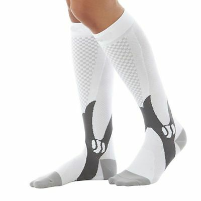 (2 Pairs) Compression Socks Sports Men Women Calf Shin Leg Running Fitness S~XXL 2