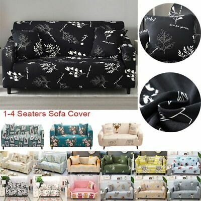 1/2/3 Sofa Covers Couch Slipcover Stretch Elastic Fabric Settee Protector Fit UK 2