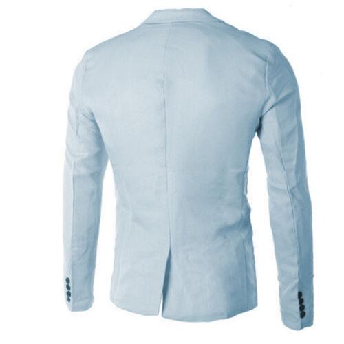 MEN\'S STYLISH SUIT Casual Slim Fit One Button Formal Suit Blazer ...