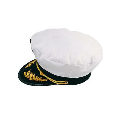 f1e53d8fd3f75 3 of 6 Unisex Skipper Ship Sailor Navy Yacht Military Captain Nautical Hat  Cap Costume