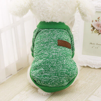 Cotton Pet Cat Dog Jacket Winter Clothes Small Puppy Doggie Sweater Coat Apparel 9