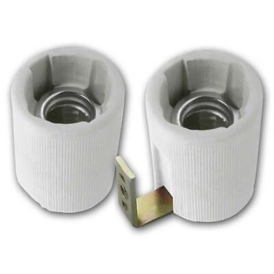 Keramikfassung 230V E-27 Schraubsockel-Fassung E27 Lampenfassungen aus Keramik