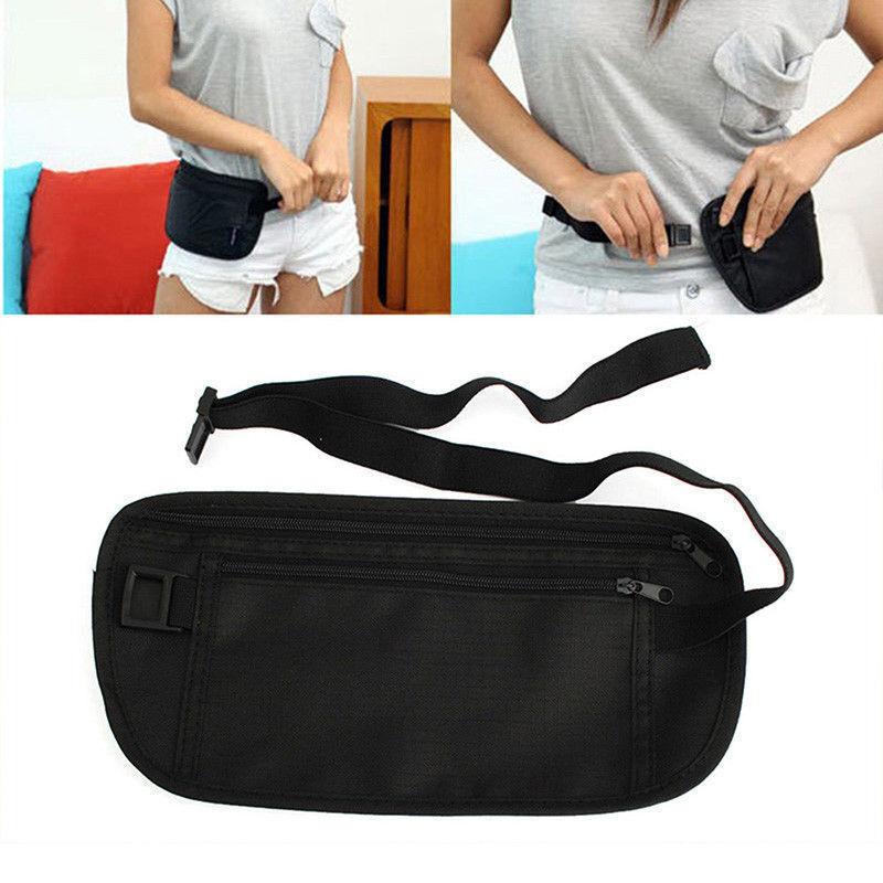 Travel Money Belt Hidden Waist Security Wallet Bag Passport Pouch RFID Holder 4