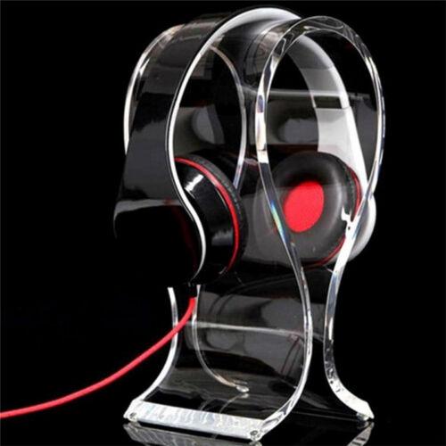 Acrylic Durable Headset Earphone Desk Holder Headphone Display Hanger Stand W0F2