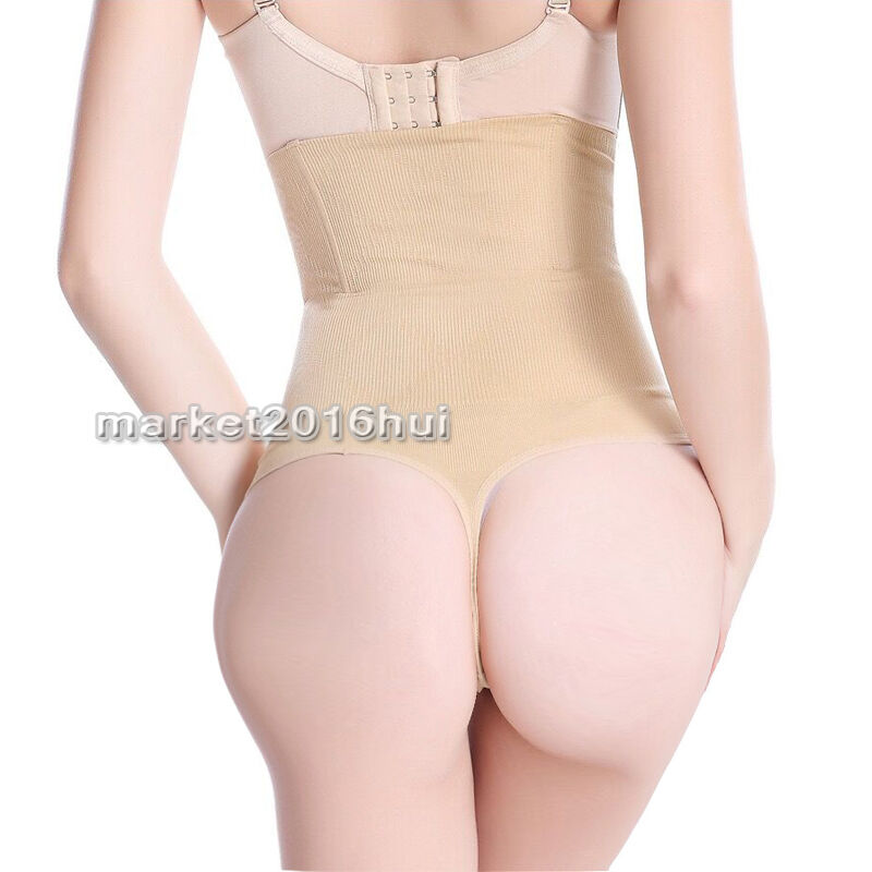 95521f19fb Lady High Waist Cincher Girdle Tummy Control Thong Panties Body Shaper  Underwear 10 10 of 11 See More