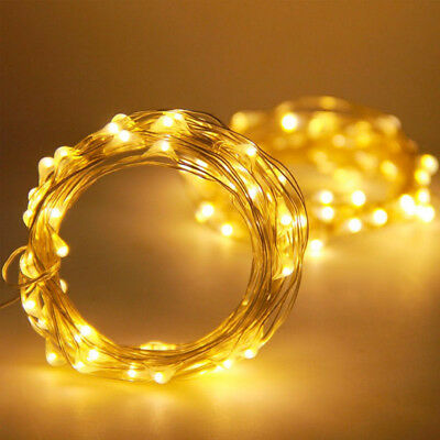 20/30/100 LED Battery Micro Rice Wire Copper Fairy String Lights Party white/rgb 9