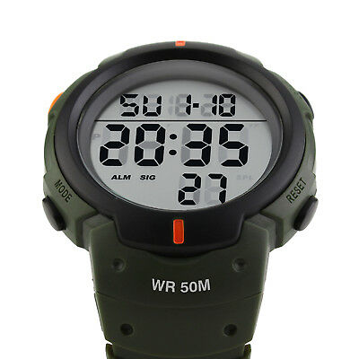 Men's Digital Sports Watch LED Screen Large Face Military Waterproof Watches 3