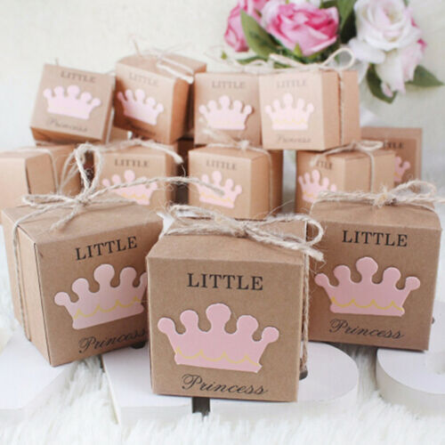 10Pcs/set Kraft Paper Favor Small Box Wedding Party Favor Gift Xmas Candy Boxes 2