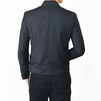Blazer Japanese School Uniform Slim Coat Tops Single Breasted Men Black Jacket