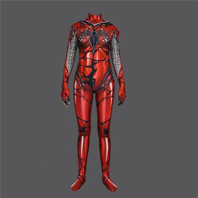 Red Cosplay Venom Gwen Stacy Spider Superhero Costume Halloween Zentai Jumpsuit