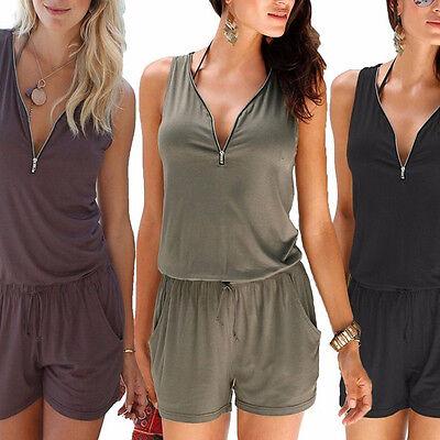 ... femme vacances mini combi-short combinaison été robe de plage Court  pantalon 7 f5c7cbbd161