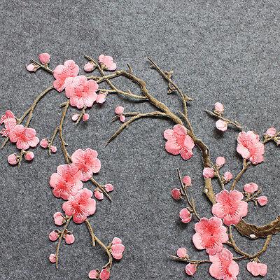 Broderie de fleurs de fleur de prunier brodée sur l'artisanat motif applique 4