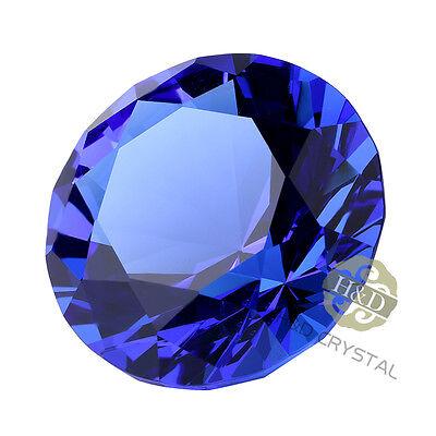 Blue Cut Crystal Diamond Shape Paperweight Glass Jewel Wedding Favor Gift 30mm 4