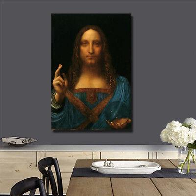 Leonardo da Vinci Salvator Mundi letter size11inc { Jesus }
