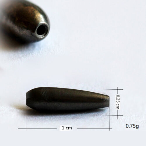 2X Black Tungstens Bullets Flipping Weight Fishing Sinker Lure Fishing Accessory