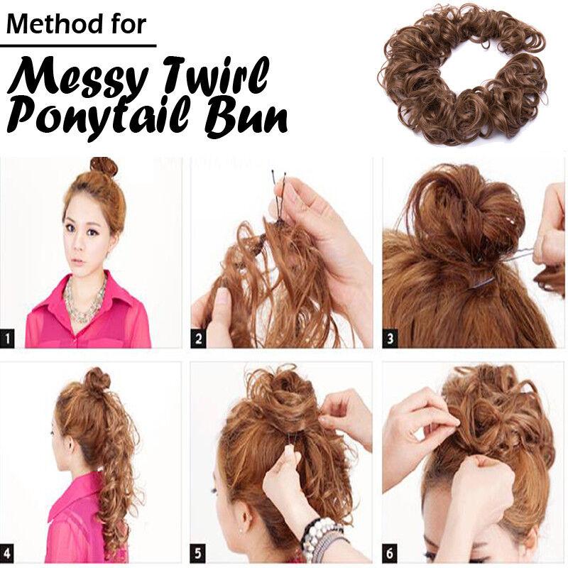 Flexible Premium Hair Scrunchie Bun Chignon Ponytail Extension Real