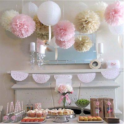 10x Pom Pom Papier Ball Blume Diy Hochzeit Geburtstag Party Dekor