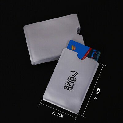 10pcs RFID Blocking Sleeve Credit Card Protector Bank Card Holder for Wallets 5