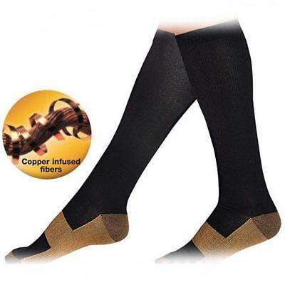 6 Pairs Compression Socks 20-30mmHg Graduated Men Women Sport Socks S-XXL 10