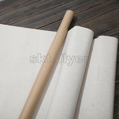 Blank Canvas Roll Oil Painting Fine Linen Primed Coating For Artists Crafts 1m