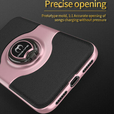For iPhone XS Max XR XS X Ring Magnetic Shockproof Hybrid TPU Bumper Case Cover 12
