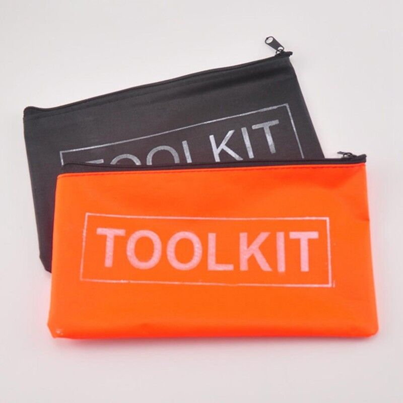 2 Pcs Waterproof Oxford Cloth Tool Kit Bag Zip Storage Instrument Case Pouch 3