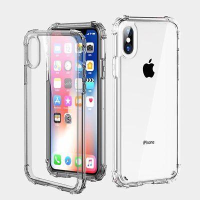 Antichoc Bumper Silicone Housse Coque iPhone XS Max 2018 XR X 8 Plus 7 Plus 6s 5