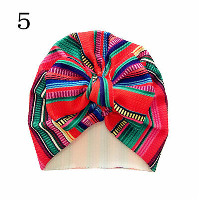 Newborn Baby Hat Head Wrap Flower Soft Bowknot Baby Turban Cap For Girl Toddler 8